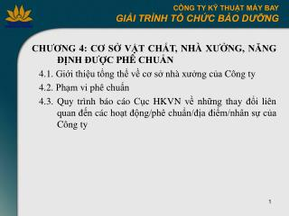 CH??NG 4: C? S? V?T CH?T, NH� X??NG, N?NG        ??NH ???C PH� CHU?N