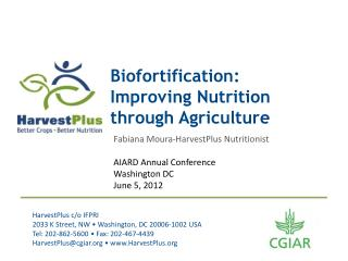 Biofortification: Improving Nutrition through Agriculture