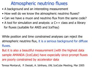 Atmospheric neutrino fluxes