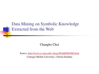 Data Mining on Symbolic Knowledge Extracted from the Web