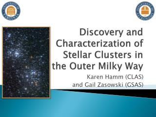 Discovery and Characterization of  Stellar Clusters in  the Outer Milky Way