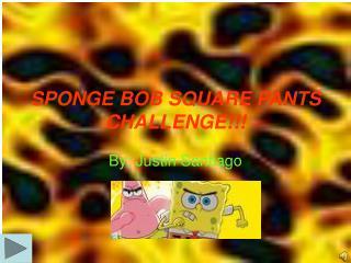 SPONGE BOB SQUARE PANTS CHALLENGE!!!