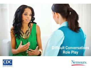 Difficult Conversations Role Play