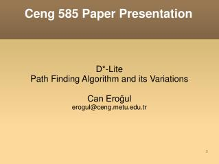 Ceng 585 Paper Presentation