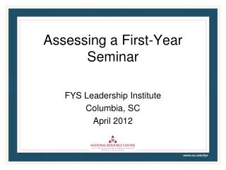 Assessing a First-Year Seminar