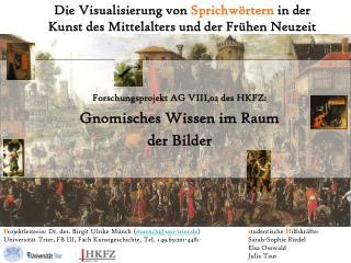 Die Visualisierung von  Sprichwörtern  in der Kunst des Mittelalters und der Frühen Neuzeit