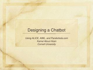 Designing a Chatbot