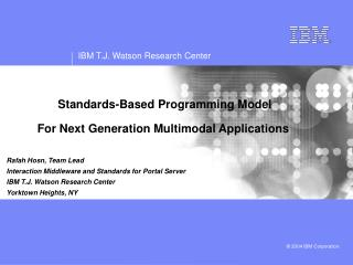 Standards-Based Programming Model