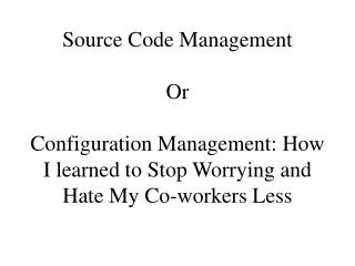 Source Code Management