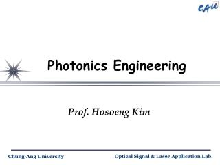 Photonics Engineering
