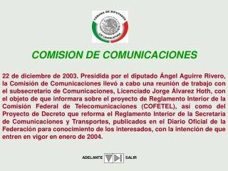 COMISION DE COMUNICACIONES