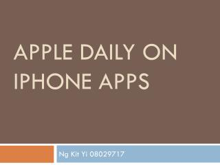APPLE DAILY ON IPHONE APPS
