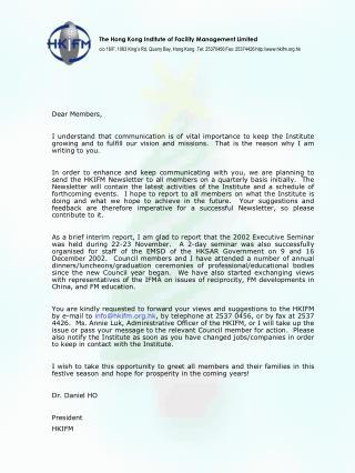 Dear Members,