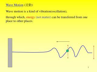 Wave Motion  ( ?? )