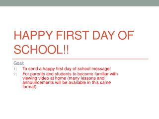 Happy First Day of School!!