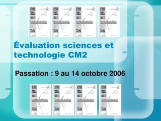 Évaluation sciences et technologie CM2