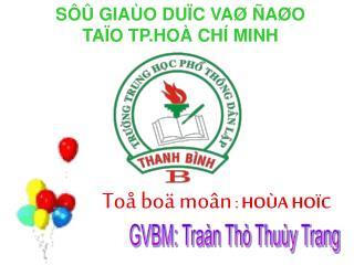 GVBM: Traàn Thò Thuùy Trang