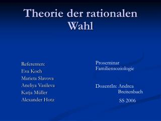 Theorie der rationalen Wahl