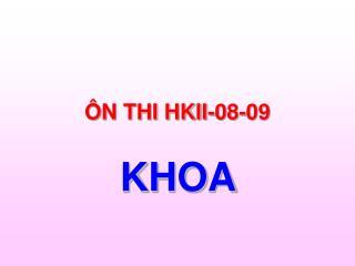 ÔN THI HKII-08-09