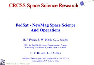CRCSS Space Science Research