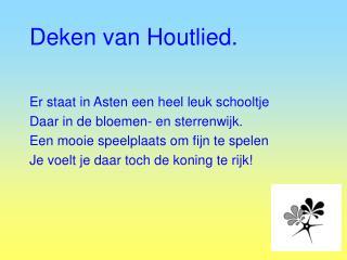 Deken van Houtlied.