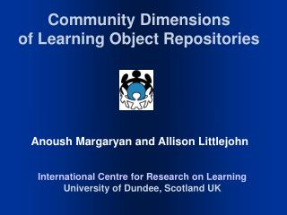 Community Dimensions of Learning Object Repositories