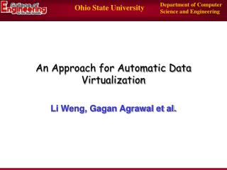An Approach for Automatic Data Virtualization