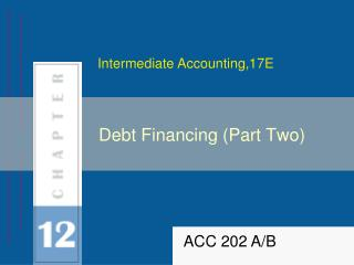 Debt Financing (Part Two)