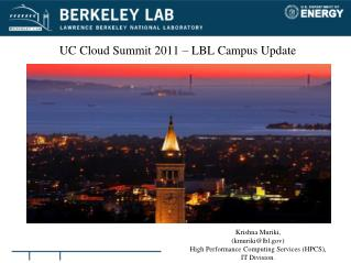 UC Cloud Summit 2011 – LBL Campus Update