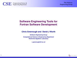 Software Engineering Tools for  Fortran Software Development