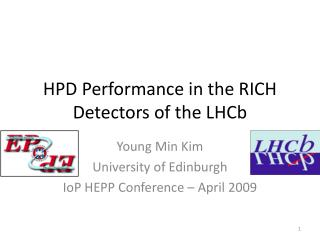 HPD Performance in the RICH Detectors of the LHCb