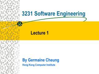 3231 Software Engineering