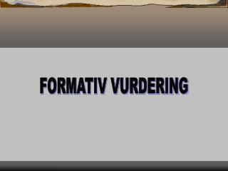 FORMATIV VURDERING