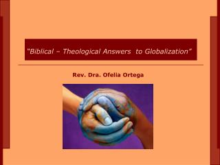 Rev.  Dra . Ofelia Ortega