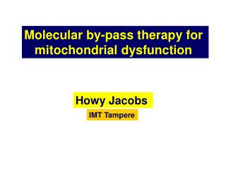Molecular by-pass therapy for  mitochondrial dysfunction