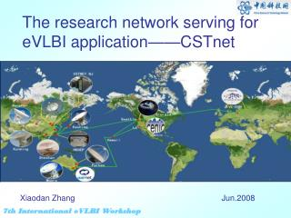 The research network serving for eVLBI application——CSTnet