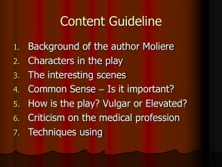 Content Guideline