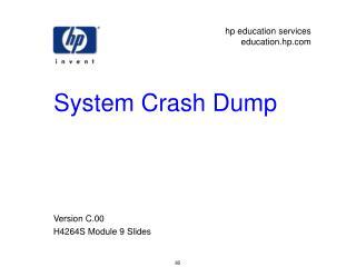 System Crash Dump