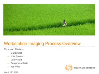 Workstation Imaging Process Overview