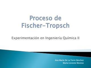 Proceso de Fischer-Tropsch