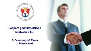 Podpora podnikatelských kontaktů v Asii