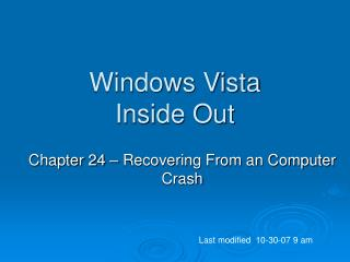 Windows Vista Inside Out