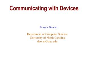Communicating with Devices