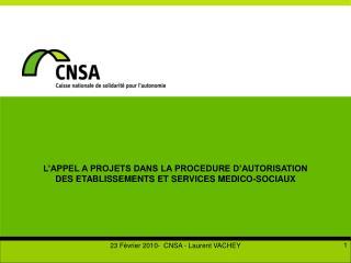 L'APPEL A PROJETS DANS LA PROCEDURE D'AUTORISATION DES ETABLISSEMENTS ET SERVICES MEDICO-SOCIAUX