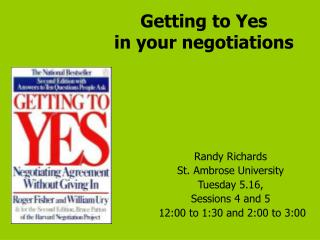 Getting to Yes in your negotiations