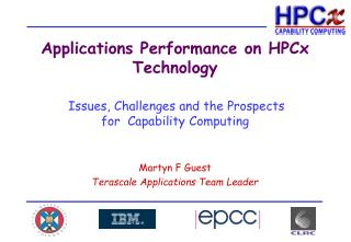 Applications Performance on HPCx Technology