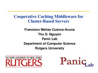 Cooperative Caching Middleware for Cluster-Based Servers