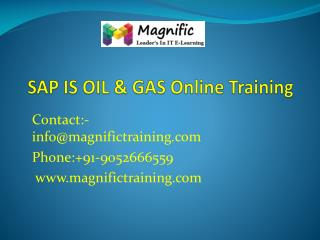sap is oil & gas online training