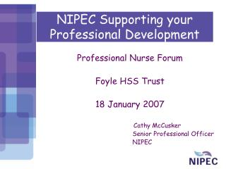 NIPEC Supporting your  Professional Development