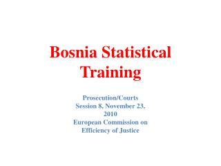 Bosnia Statistical Training